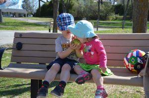 Adam and Naomi Sharing a Pear